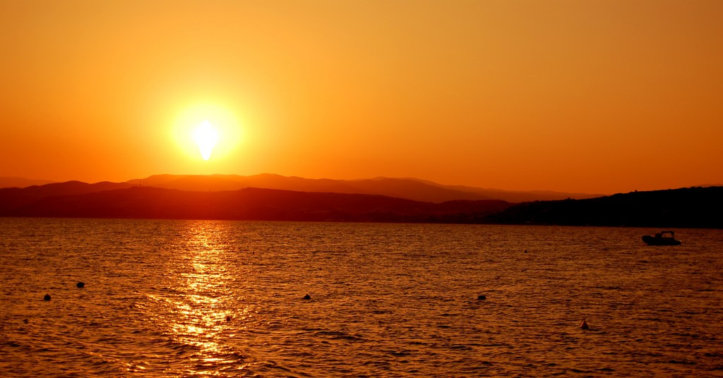 Západ slnka, Alexandropolis