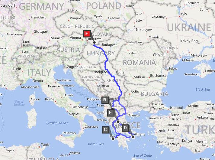 mapa greece