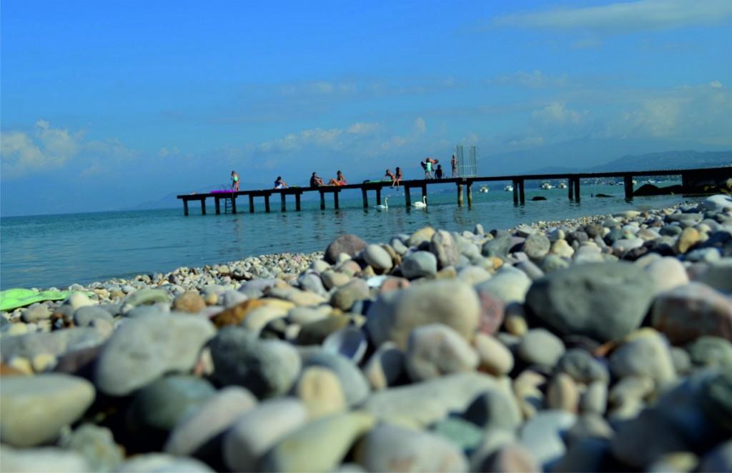 Kamienkové pobrežie Lago di Garda