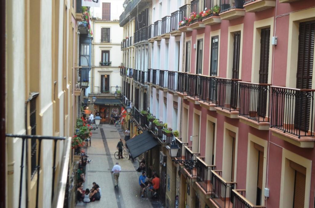 Rušné uličky San Sebastianu